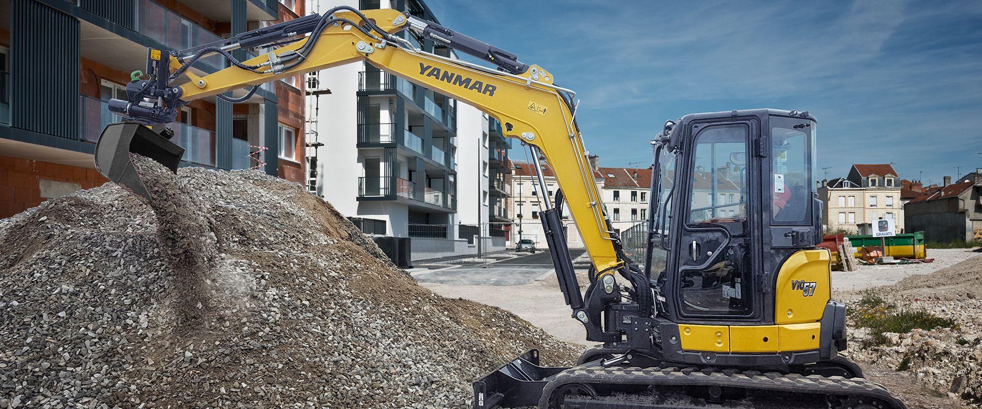 machine on construction site